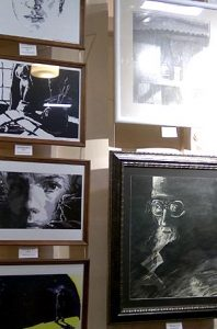 Exhibition of Artworks. Gallery in the town library.