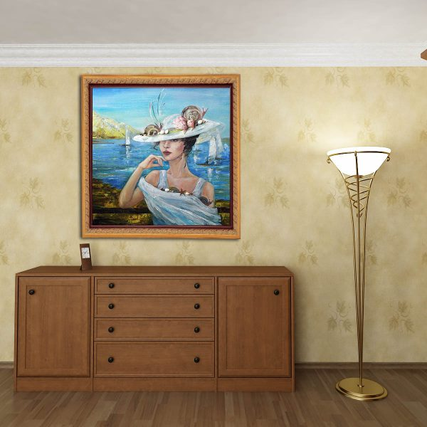 Marine. Painting by Anna Maximenko mounted in interior.