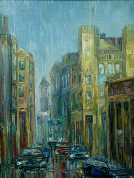 A Rainy Day. Painting by Anna Maximenko. Original art for sale.
