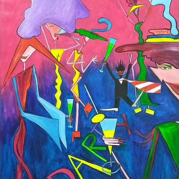 Party. Abstract painting by Max Markovkin. Original art for sale