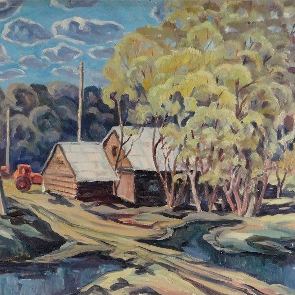 The Gomelevka Village by Vasily Shvedko 1981