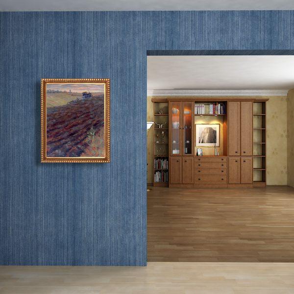 Untitled (Arable) by Vasily Shvedko mounted in interior